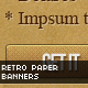 Retro Paper-cut Web Marketing Banners - GraphicRiver Item for Sale