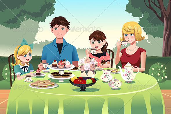 Family having a Tea Party Together