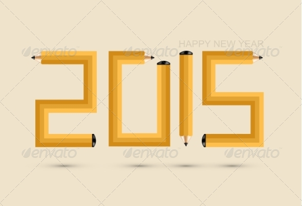 Pencil New Year Background
