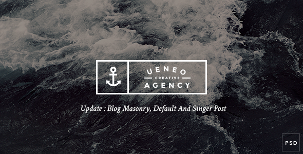 Ueneo – Creative One Page PSD Template