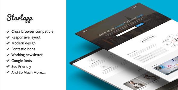 Startapp - Responsive Landing Page Template