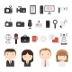 Set of Flat Colorful Journalism Icons - GraphicRiver Item for Sale