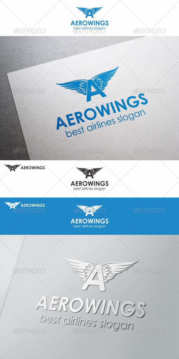 Aero Wings Letter A Logo
