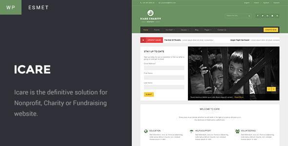 Charity WordPress Theme | ICARE