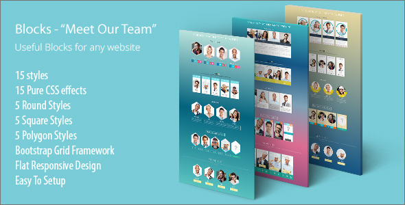 Meet Our Team Responsive Design Blocks