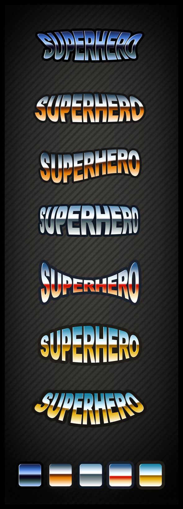 Superhero Text Effect