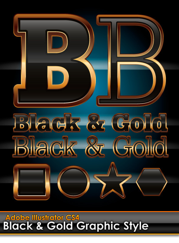 Gold and Style Illustrator Styles from GraphicRiver