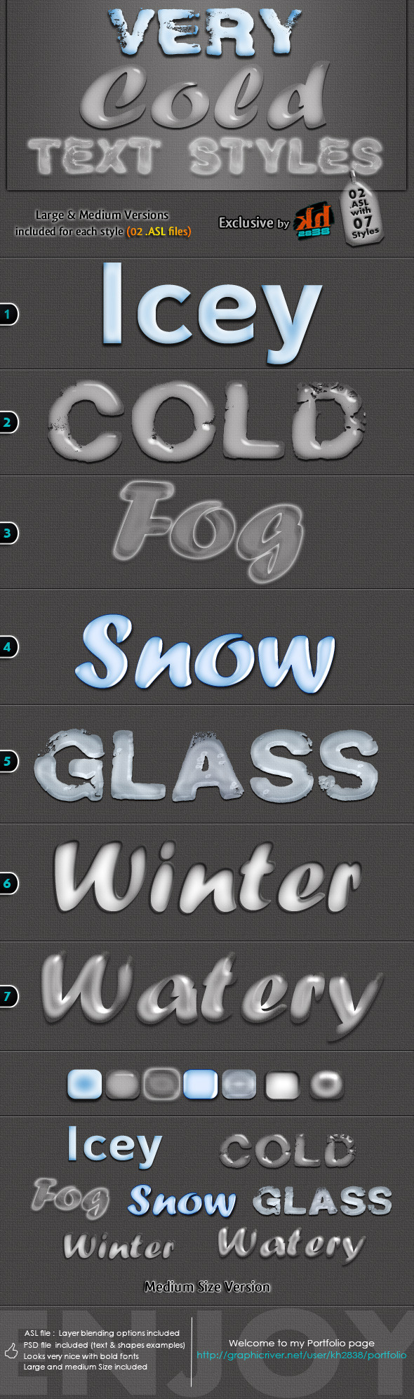 Very Cold Text Styles