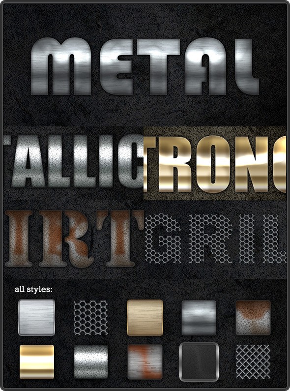 Industrial Text Styles