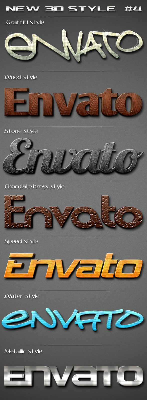 New 3D Text Style 4