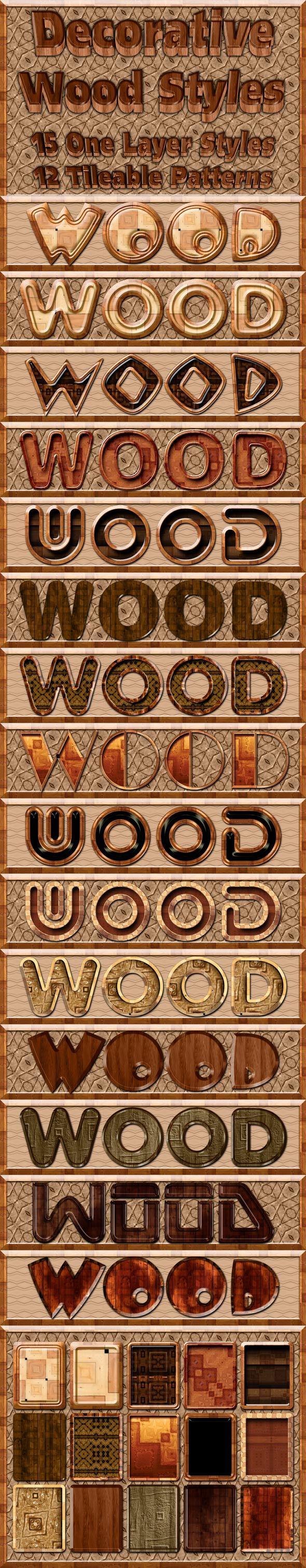 Decorative Wood Styles