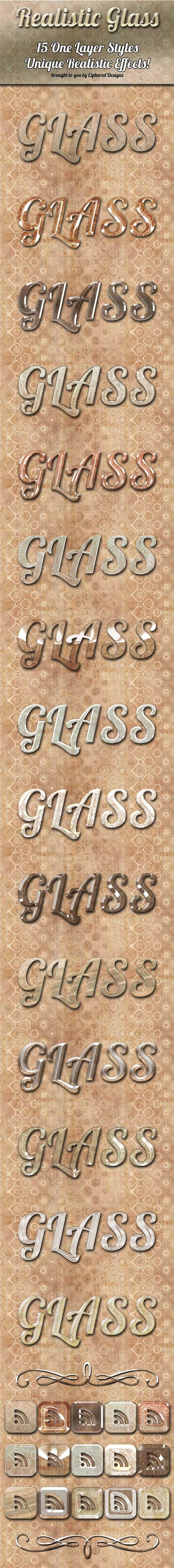 Realistic Glass - Photoshop Styles