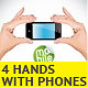 4 Hand Holding Mobile Phone Illustrations - GraphicRiver Item for Sale