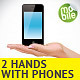 2 Hand Holding Mobile Phone Illustrations - GraphicRiver Item for Sale