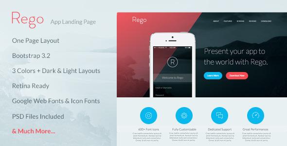 Rego - App Landing Page