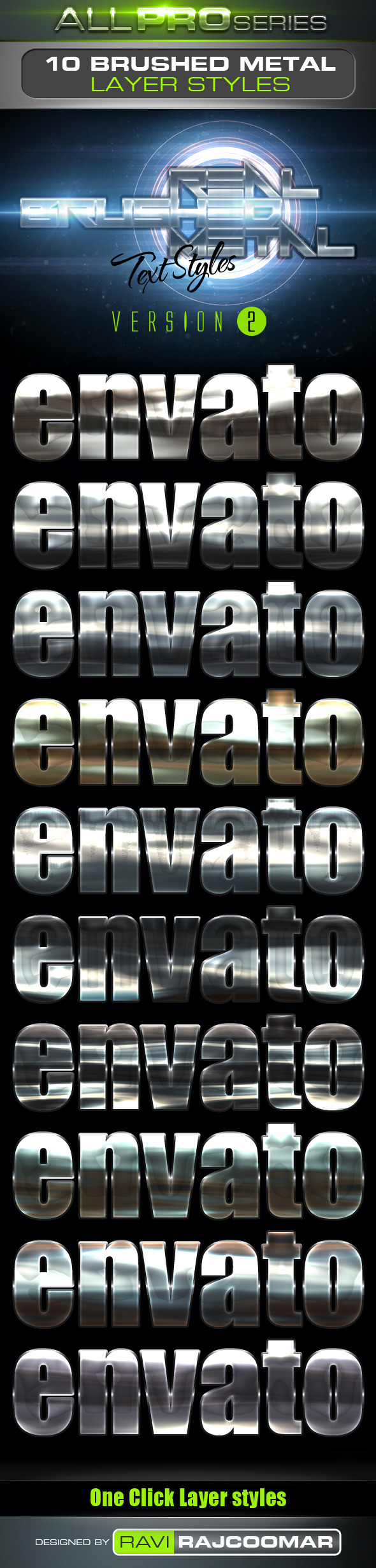 Real Brushed Metal Text Styles Vol.2