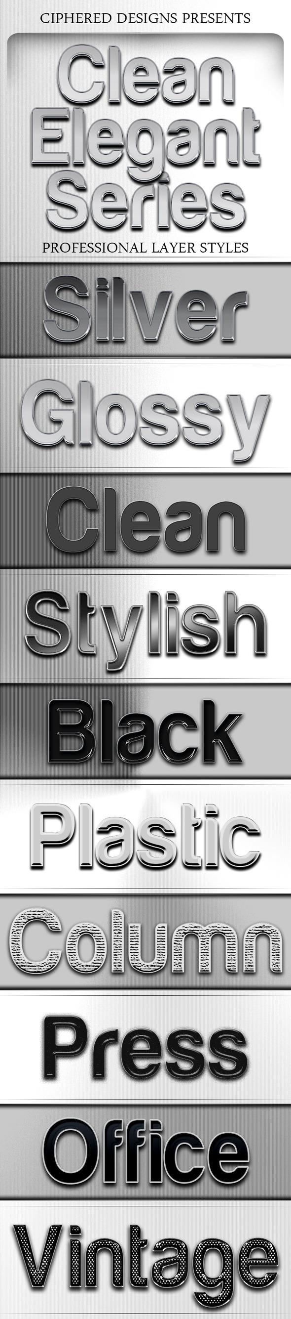 Clean Elegant Series - Professional Layer Styles