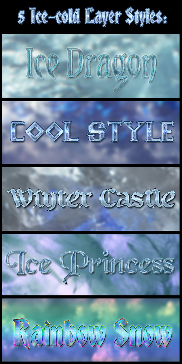 5 Ice-Cold Layer Styles