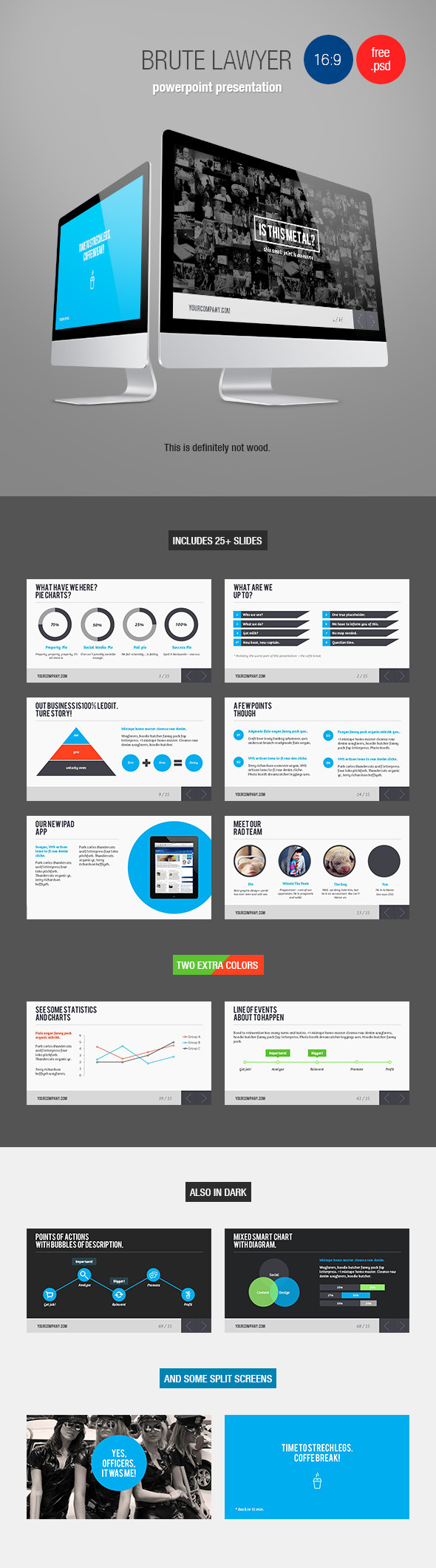Brute Lawyer - Swiss Style PowerPoint Template