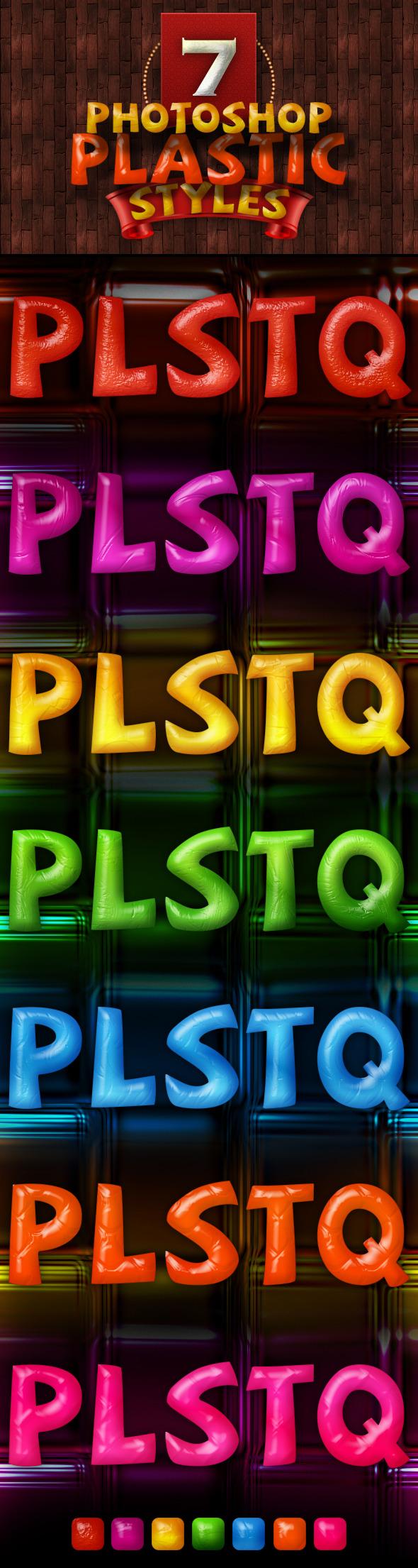 7 Photoshop Plastic Styles