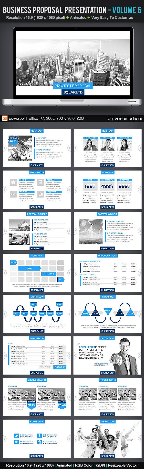 Business Proposal Presentation   Volume 6