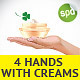 4 Woman Hand With Cream Jar Illustrations - GraphicRiver Item for Sale