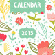Floral Calendar for Year 2015 - GraphicRiver Item for Sale