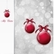 Red Christmas Balls on Shiny Card. Vector - GraphicRiver Item for Sale