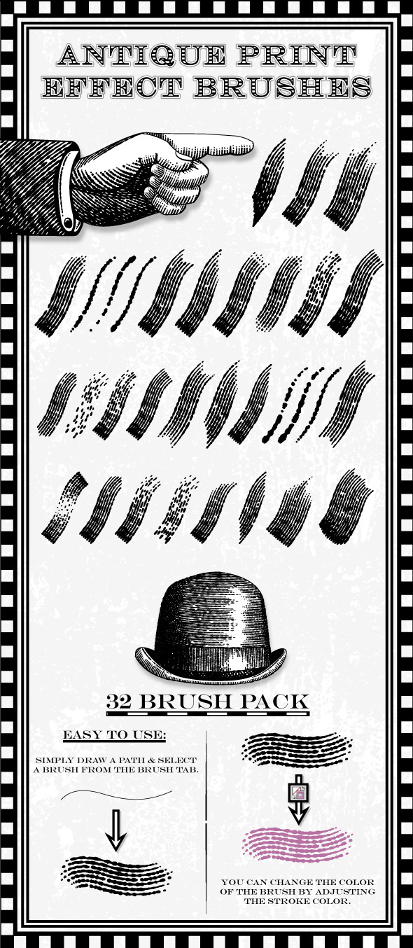 Illustrator Brushes from GraphicRiver