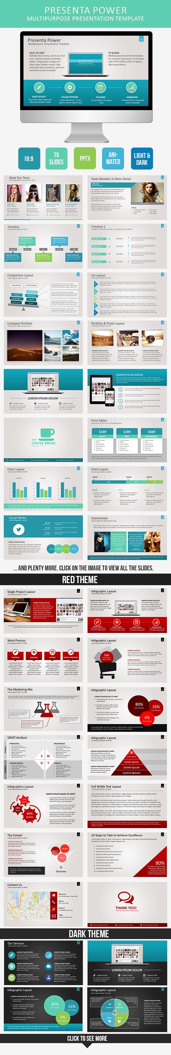 Presenta Power PowerPoint Template
