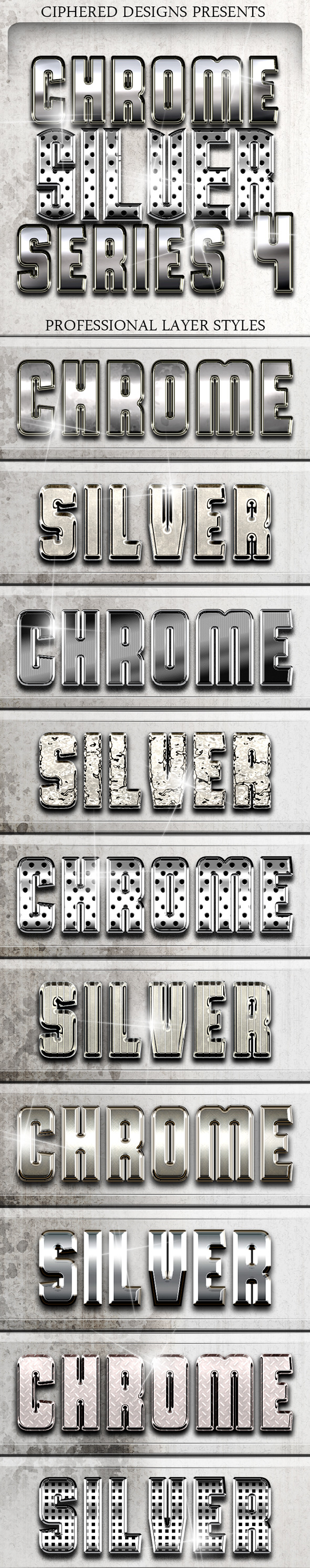 Chrome & Silver Series 4 - Pro Text Effects