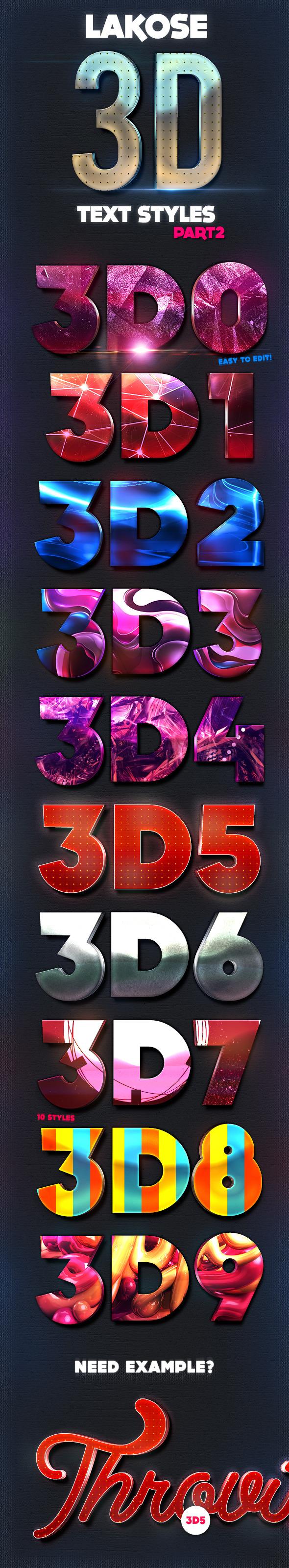 Lakose 3D Text Styles Part 2