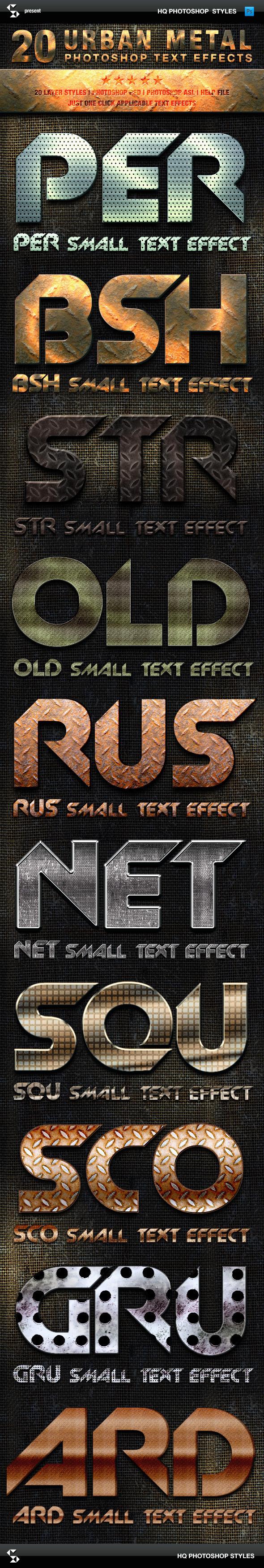 Metal Styles - Urban Metal Text Effects