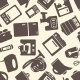 Seamless Pattern with Electronic Appliances - GraphicRiver Item for Sale