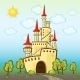 Castle in Cartoon Style - GraphicRiver Item for Sale
