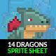 Dragon Sprite Sheet - GraphicRiver Item for Sale