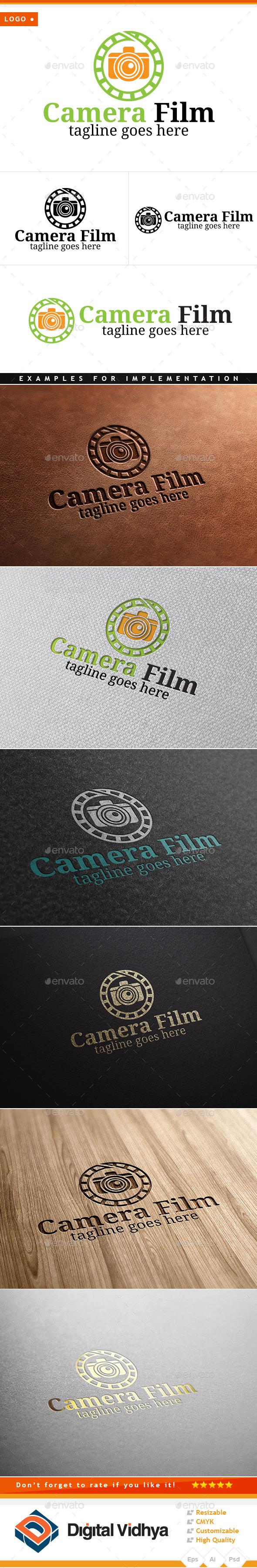 Film-reel  & Camera Logo