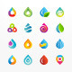 Water Drop Symbol Vector Icon Set - GraphicRiver Item for Sale