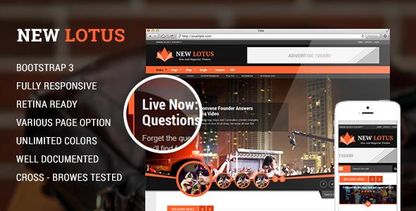 New Lotus Magazine HTML5 template