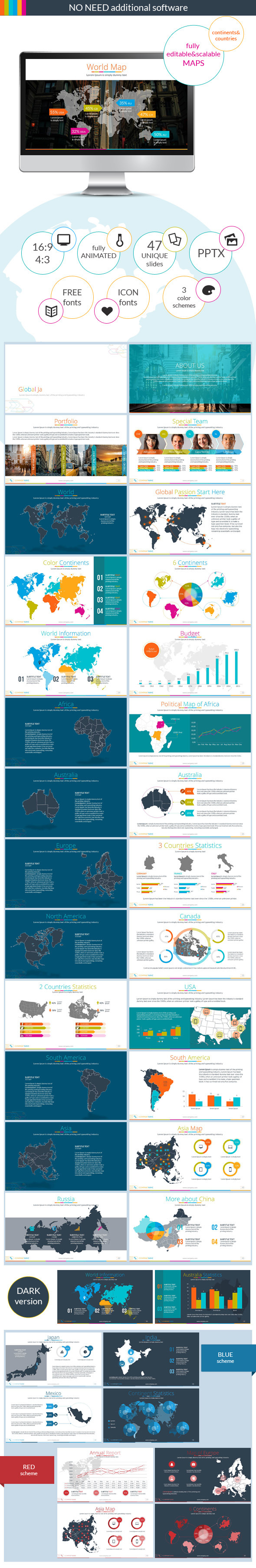 Continents&Countries PowerPoint Presentation