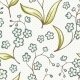 Beautiful Seamless Pattern with Forget-Me Not - GraphicRiver Item for Sale