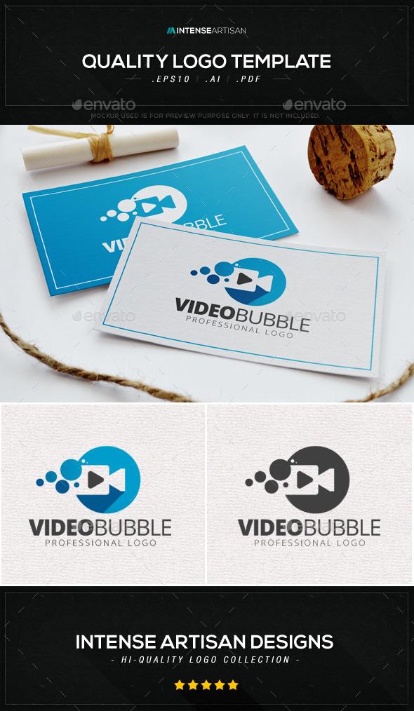Video Bubble Logo Template
