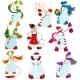 Cartoon Snowman Set - GraphicRiver Item for Sale