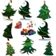 Cartoon Christmas Trees with Presents - GraphicRiver Item for Sale