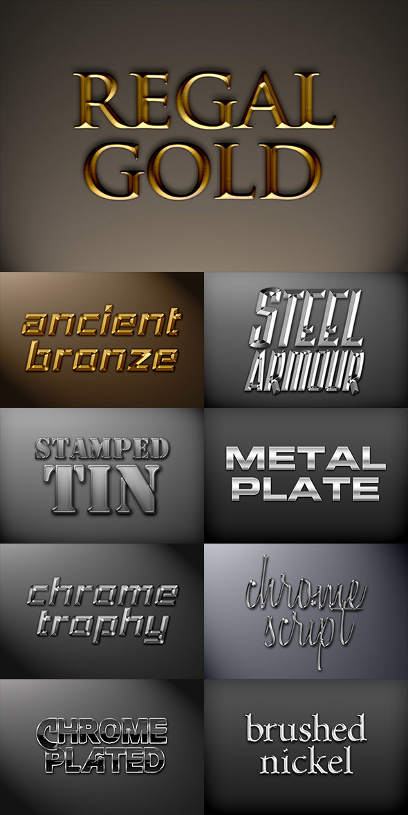 Metal Photoshop Styles Pack 1