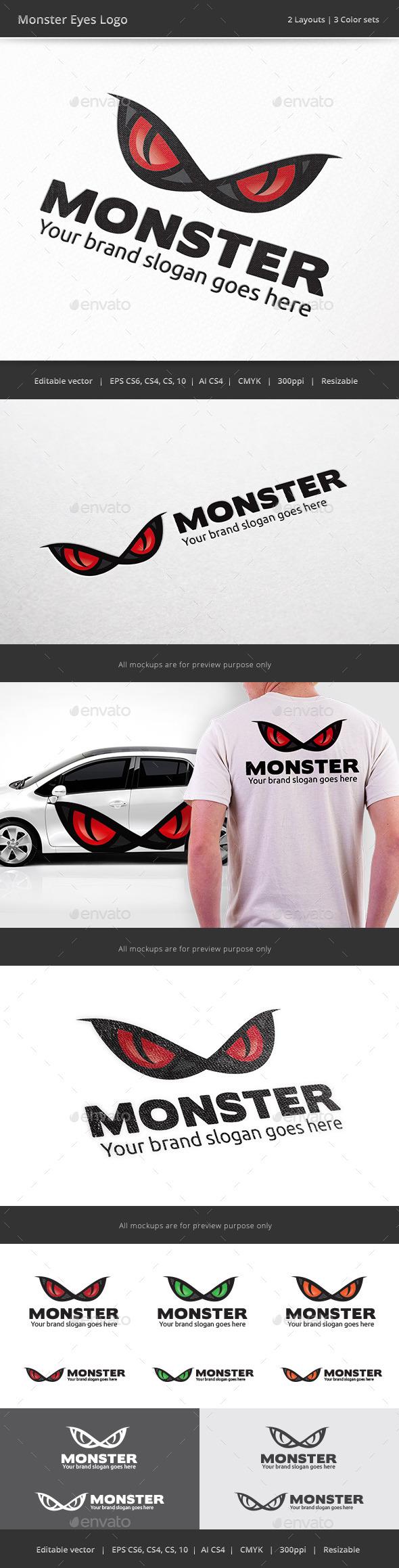 Monster Eyes Logo