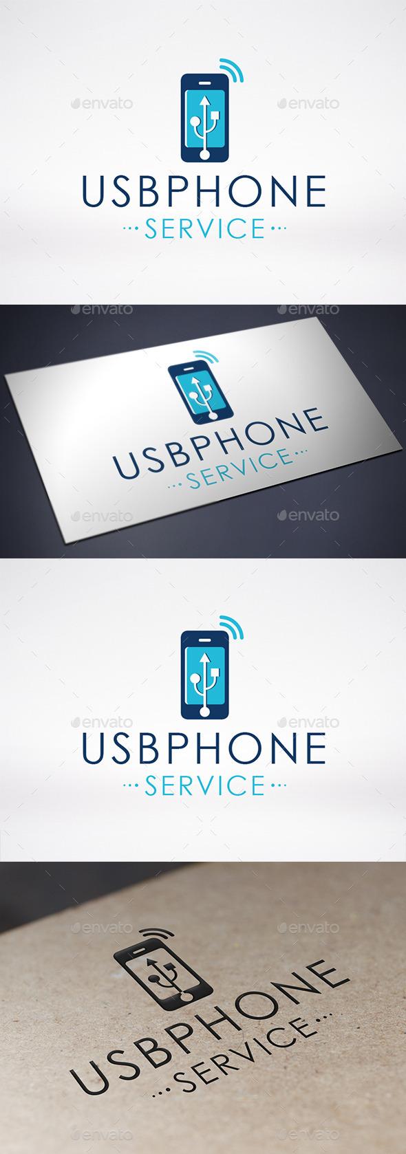 Usb Phone Logo Template