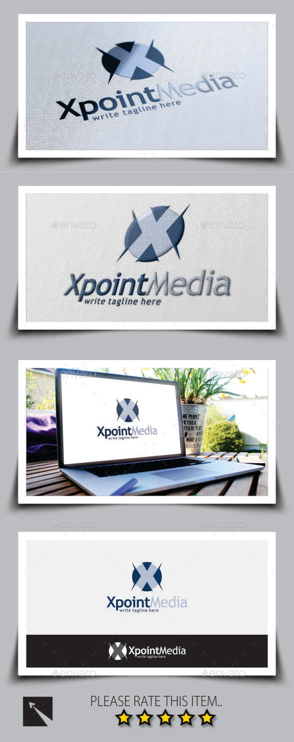 Xpoint Letter (X) Logo Template