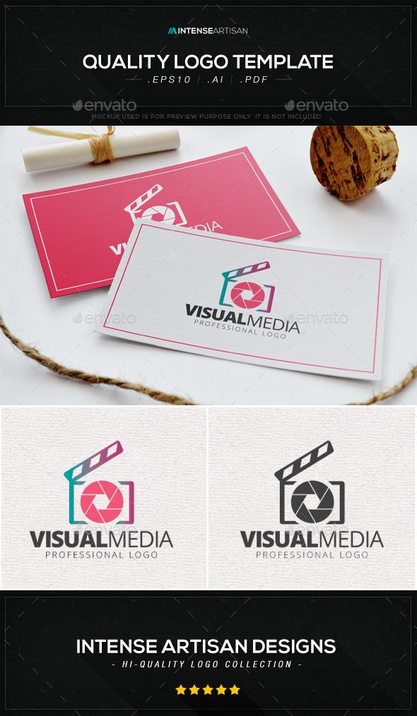 Visual Media Logo Template