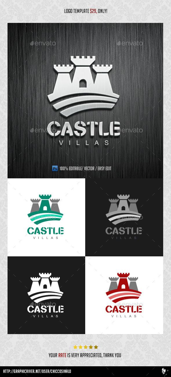 Castle Villas Logo Template